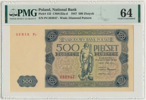 500 złotych 1947 - P4 - PMG 64