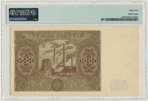 1.000 złotych 1947 - G - PMG 64