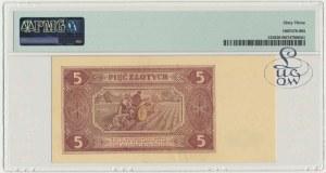 5 złotych 1948 - BE - PMG 63 - Kolekcja Lucow