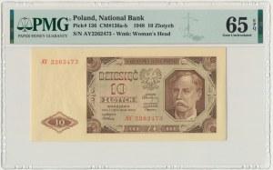 10 złotych 1948 - AY - PMG 65 EPQ