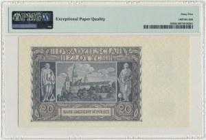 20 złotych 1940 - K - PMG 65 EPQ - rzadka seria
