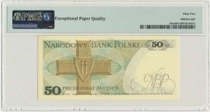 50 złotych 1975 - P - PMG 65 EPQ - rzadka seria