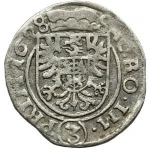 Śląsk, Księstwo żagańskie, Albert von Wallenstein, 3 Krajcary Jiczyn 1628 - RZADKIE