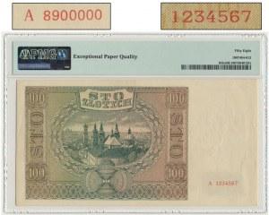 100 złotych 1941 WZÓR - A 8900000/A 1234567 - PMG 58 EPQ - DUŻA RZADKOŚĆ