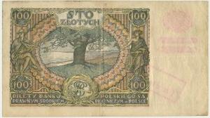 100 złotych 1932(9) - Ser.BT. - + X + - fałszywy przedruk okupacyjny