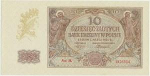 10 złotych 1940 - M. - rzadka seria