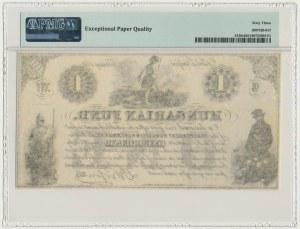Hungary, Hungarian Fund, 1 dolar 1852 - PMG 63 EPQ