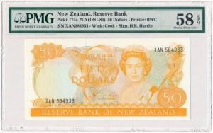 New Zealand, 50 dollars (1981-5) - PMG 58 EPQ