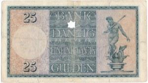 Gdańsk 25 guldenów 1924 - B/A - EKSTREMALNIE RZADKI - pierwsze notowanie w Polsce