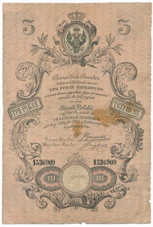 3 ruble srebrem 1854 Tymowski & Englert - UNIKAT