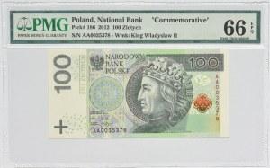100 złotych 2012 - AA - PMG 66 EPQ