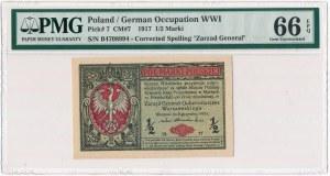 1/2 marki 1916 Generał - PMG 66 EPQ