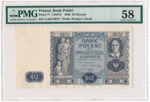 20 złotych 1936 - AA - PMG 58 - pierwsza seria