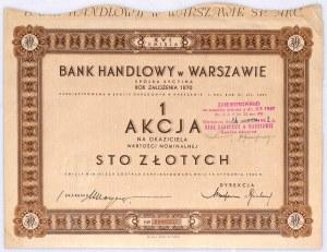 Bank Handlowy w Warszawie S.A. akcja na 100 zł, em. XVI
