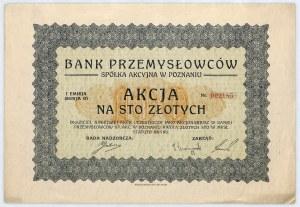 Bank Przemysłowców S.A. akcja na 100 zł, em. I s. B