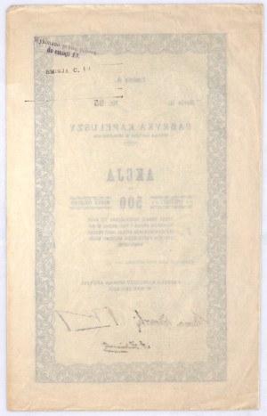 Fabryka Kapeluszy w Myślenicach, akcja na 500 mkp, em. A, s. II