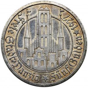 Wolne Miasto Gdańsk, 5 guldenów 1927