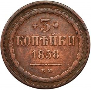 3 kopecks Warsaw 1858 BM