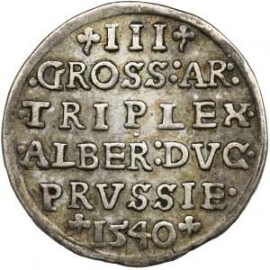 Prussia, Albrecht Hohenzollern, 3 Groschen Königsberg 1540