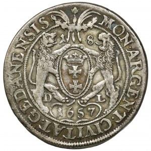 John II Casimir, 1/4 Thaler Danizg 1657