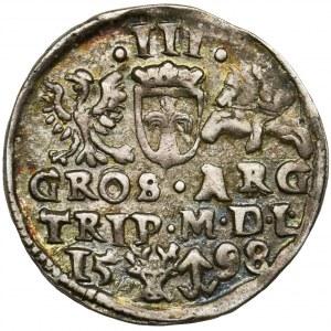 Sigismund III Vasa, 3 Groschen Vilnius 1598 - RARE