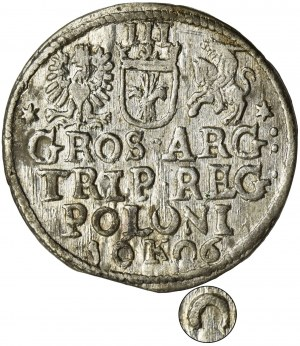 Sigismund III Vasa, 3 Groschen Krakau 1606 - RARE