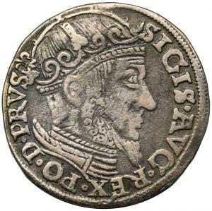 Zygmunt II August, Trojak Gdańsk 1557 - bez obwódki - RZADKI