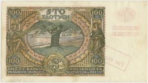 100 złotych 1934(9) - fałszywy przedruk okupacyjny - ILUSTROWANY w kat. Czesława Miłczaka