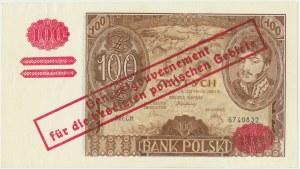100 złotych 1934(9) - fałszywy przedruk okupacyjny - ILUSTROWANY w katalogu Cz.Miłczaka