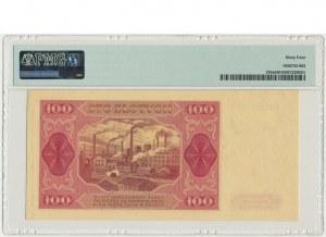 100 złotych 1948 - GW - PMG 64 - z ramką - RZADKOŚĆ