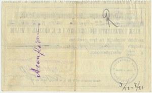 Bank Towarzystw Spółdzielczych S.A Oddział w Wilnie - Czek na 2.000 złotych -
