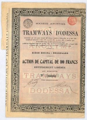 Tramways D'Odessa, akcja na 100 franków