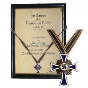 Niemcy, Krzyż Honorowy Niemieckiej Matki - III klasa