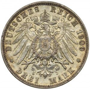 Germany, Hamburg, 3 mark 1908 J