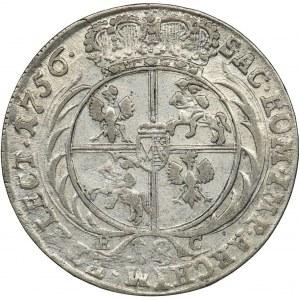 Augustus III of Poland, 1/4 Thaler Leipzig 1756 EC
