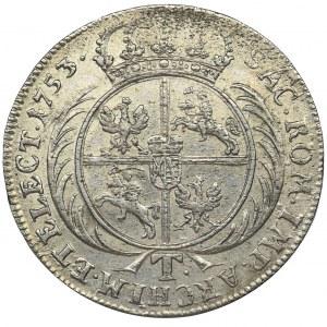 August III Sas, Tymf Lipsk 1753 - RZADKI