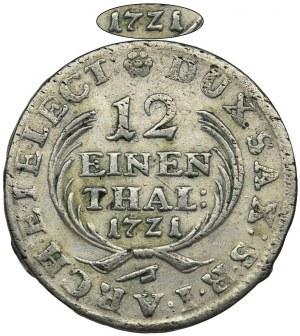 August II Mocny, 1/12 Talara (dwugrosz) Drezno 1721 IGS - RZADKI