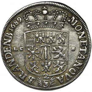 Germany, Brandenburg-Prussia, Gulden (2/3 thaler) Berlin 1689 LC-S