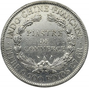 French Indochina, 1 piastre Paris 1926 A