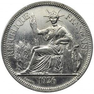 French Indochina, 1 piastre Paris 1926 A
