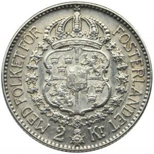 Szwecja, Gustaw V, 2 Korony Sztokholm 1934