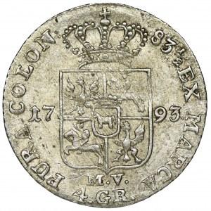 Poniatowski, 4 Groschen Warsaw 1793 MV