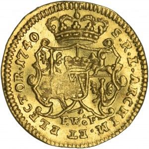 Augustus III of Poland, 1/4 Ducat Dresden 1740 FWôF
