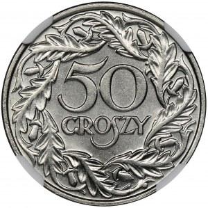 50 groszy 1923 - NGC MS66