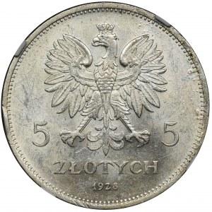 Nike, 5 zloty Warsaw 1928 - NGC MS60