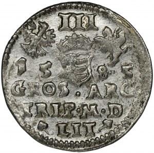 Stefan Batory, Trojak Wilno 1585 - bez herbu Prus