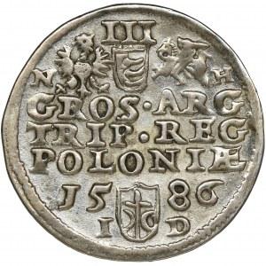 Stephen Bathory, 3 Groschen Olkusz 1586 - NH PO