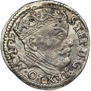 Stefan Batory, Trojak Wilno 1586 - bez herbu Prus