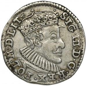 Zygmunt III Waza, Trojak Olkusz 1590 - pełna korona