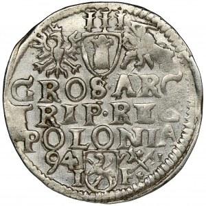 Sigismund III Vasa, 3 Groschen Posen 1594